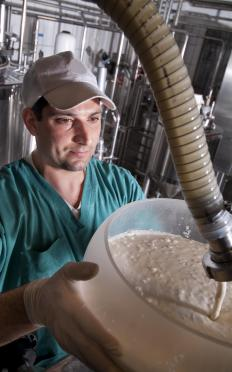 Man making yogurt.