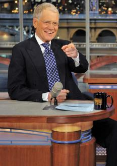 David Letterman has been a late night television talk show host for many years.