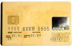 Debit cards are often used to access money in virtual bank accounts.