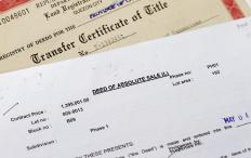 A title deed is a legal document which is used to prove ownership of a piece of property.