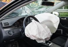 Children should always be seated in the back seat of a vehicle as inflated airbags in the front seat can cause severe injuries.