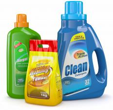 Most laundry and dish detergents contain sodium tripolyphosphate, also called pentasodium salt.