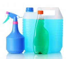 Mild acid cleaners are often used to handle household cleaning tasks.