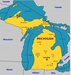 Ann Arbor is located on the eastern side of Michigan, about 45 miles away from Detroit.
