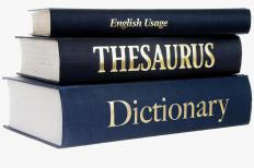 A dictionary, a thesaurus, and a book on English usage.