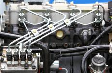 Fuel injection pumps in diesel engines operate under high pressure.