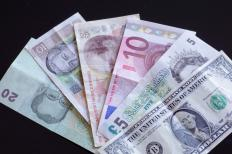 Foreign currency can be converted at a bureau de change.