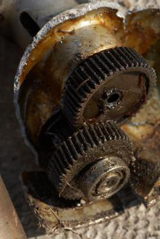Gear ratio is almost always determined by the number of teeth involved.