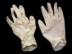 Use vinyl gloves when handling the metal so that fingerprints do not get left behind during the coating process.