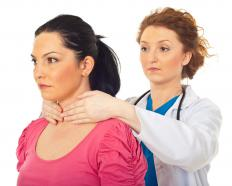 Most goiters are small and will only be noticed by a doctor during a physical exam.