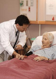 Hospice care focuses on easing a patient's pain levels.