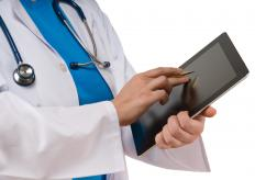 A doctor using EMR.