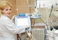 Mechanical ventilation machines may be used to treat newborn cyanosis.