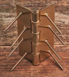 Basic hinges are made of three parts: Two arms and one pin.