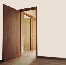 Every door along a building's egress path is considered an egress door, including doors that lead to an exit.