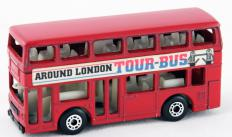 London is home to famous icons of transport, including the red double-decker bus.