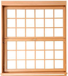 Double-hung windows have an upper and a lower sash.