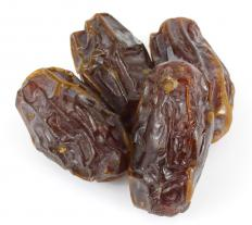 Dried dates.