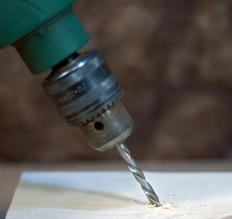 Some power drills are powered by compressed air.