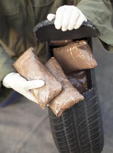 Narcotics are often concealed in an effort to avoid detection when smuggling drugs across a border.