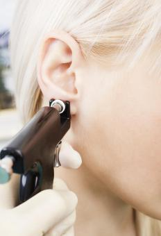 Piercing guns are the standard tool used for most ear piercings.