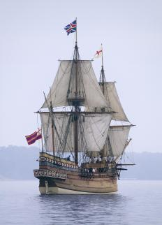 The barques and galleons that were in use during the 16th and 17th Centuries are examples of tall ships.