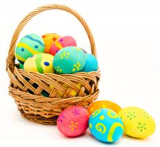 The idea of Easter eggs appearing in Easter baskets was started in the 1930's.