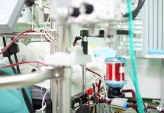 ECMO machines pump oxygen into a patient's blood during surgery.