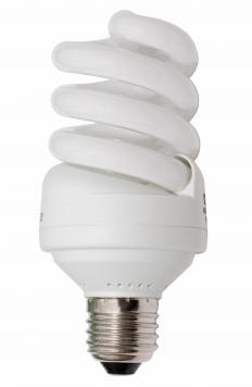 A compact fluorescent lamp is an example of a discharge tube.