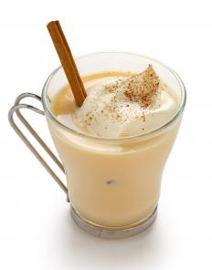Eggnog is a spicy holiday drink served around Christmas time.