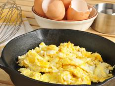 Goose eggs can be scrambled like chicken eggs.