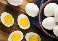 Some kinds of serving platters are molded to accommodate smaller foods, such as deviled eggs.