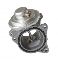The EGR valve recirculates vapors to help prevent excess nitrogen oxide, a combustion product, from being released in a car's emissions.