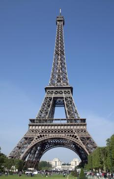 The Eiffel Tower was the subject of the first water globe made during the late 1880s.
