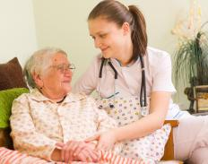 An HCBS Medicaid waiver allows a patient to receive home health care instead of moving into a nursing facility.