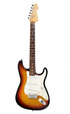 Disco music often featured an electric guitar.