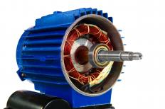 An electric motor runs with an electric actuator.