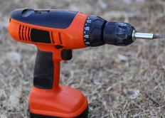 A cordless drill is a useful hand tool.