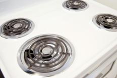 Electric stoves use large heating coils to quickly generate heat for the oven.