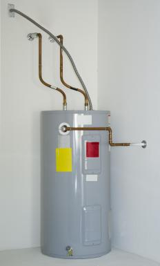 Tank style water heaters can hold up to 80 gallons of water.