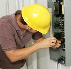 Electricians are usually subcontractors for construction jobs.