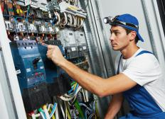 An industrial electrician is responsible for ensuring that electrical systems are in pristine working order in an industrial setting.