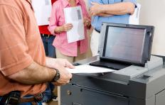 Many polling places in the US now use electronic voting machines.