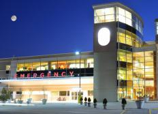 An emergency room works to stabilize patients.