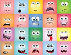 Emoticons are typically simple images meant to convey emotion.