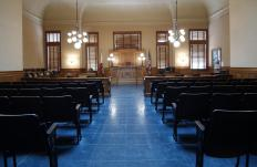 In many cases, cameras are not allowed in the courtroom during a trial.