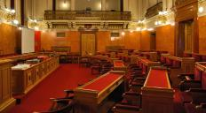 In England, moot points were aired in public and judged by an assembly.