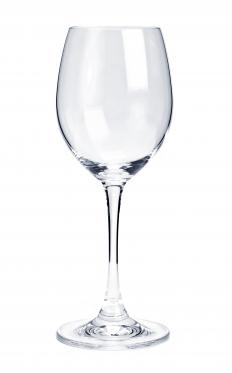 An acrylic wine glass.