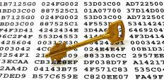"A secret mathematical ""key"" is needed to decode asymmetric key encryption."