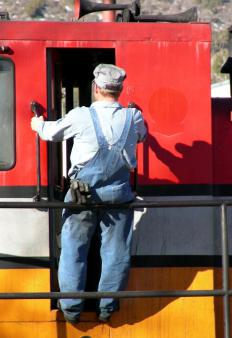 Since the role of a locomotive engineer is nearly identical in every railroad, it's a good example of a benchmark job.